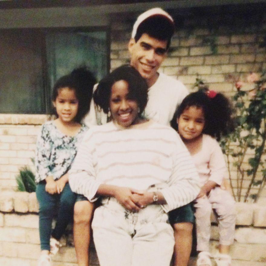 my parents, me, and my sis deedee.