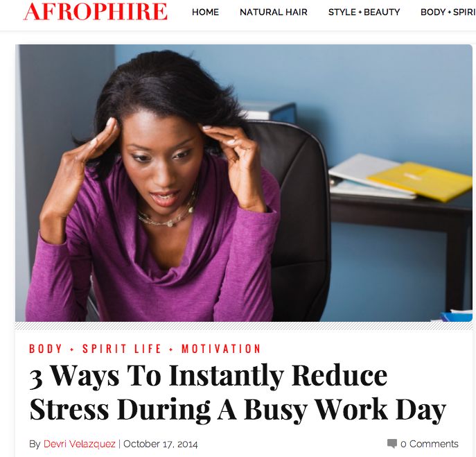 3 Ways to Instantly Reduce Stress During A Busy Work Day