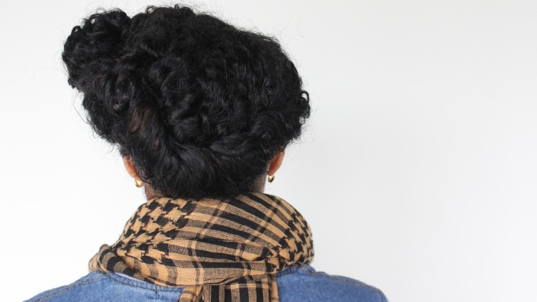 Step 6 Twist bangs to meet back