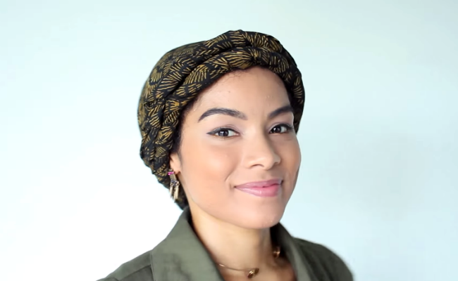 3 ways to wear a headwrap on curls