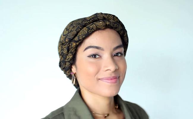 3 ways to wear a headwrap oncurls